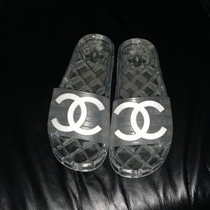 Chanel Slides (Clear)